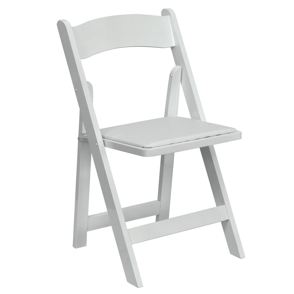 Rental garden chairs - White Padded Chair Rental