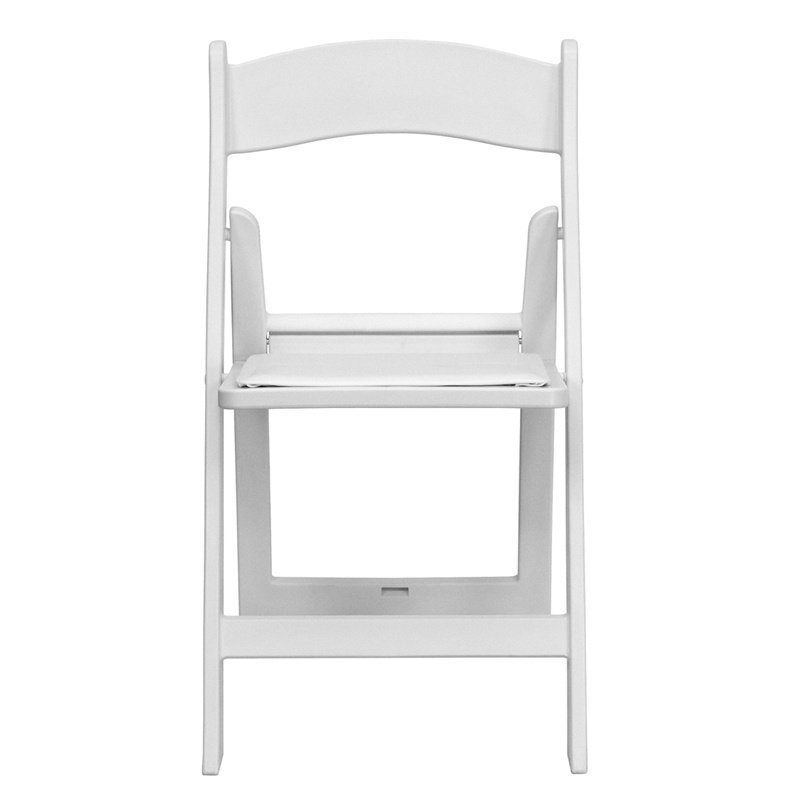 White Wood Chair with Pad