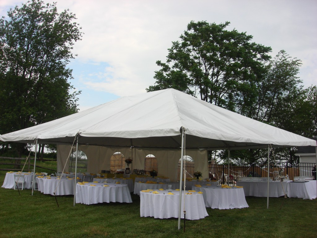 Tent Leg Drapes A Must Have For Formal Tent Rentals