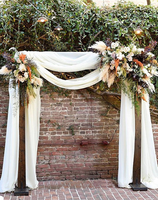 Baroque Walnut Wedding Arch