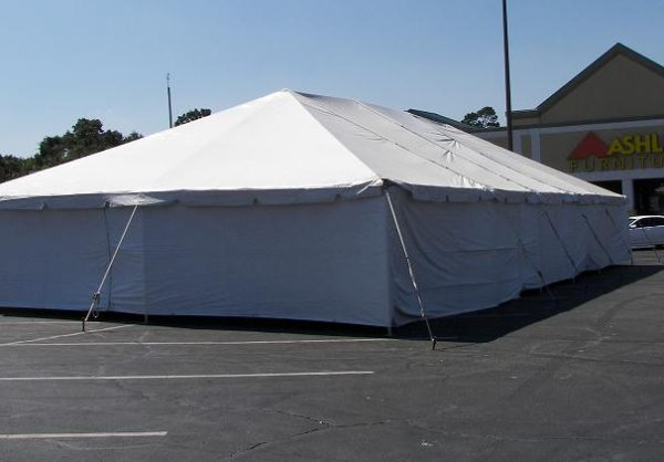 solid sidewall tent